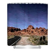 Paint Mixed Valley Of Fire Landscape  Shower Curtain