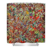 Paint Number 33 Shower Curtain