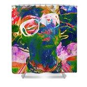 Paint Splash Pinup Art Shower Curtain