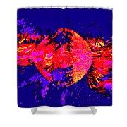 Paintball Splat Shower Curtain