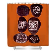 Painted Asteroids 11 Shower Curtain by Eikoni Images