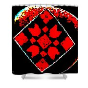 Painted Asteroids 6 Shower Curtain