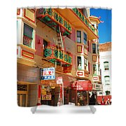 Painted Balconies In San Francisco Chinatown Shower Curtain
