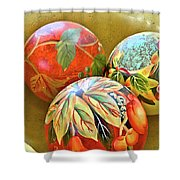 Painted Balls Shower Curtain