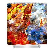 Painted Branches Abstract 1 Shower Curtain