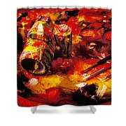 Painted Camera Shower Curtain