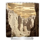 Painted Canyon Trail Shower Curtain