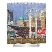 Painted Cincinnati Ohio Shower Curtain