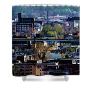 Painted City Shower Curtain