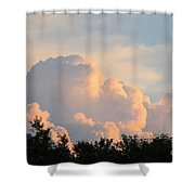 Painted Clouds Shower Curtain