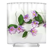 Painted Copper Flower Group Shower Curtain