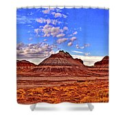 Painted Desert Colorful Mounds 003 Shower Curtain