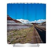 Painted Desert Road #3 Shower Curtain