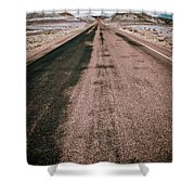 Painted Desert Road #4 Shower Curtain