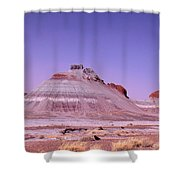 Painted Desert Tepees Shower Curtain