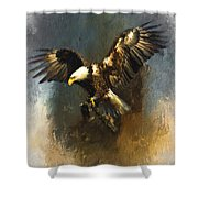 Painted Eagle Shower Curtain