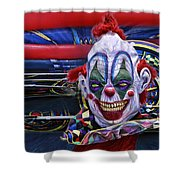 Painted Face Shower Curtain