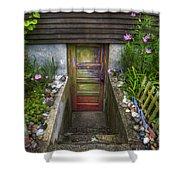 Painted Garden Door Shower Curtain