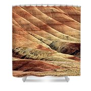 Painted Hills Textures Shower Curtain
