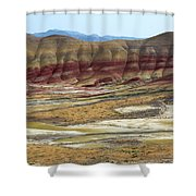 Painted Hills View From Overlook Shower Curtain