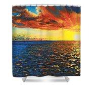 Painted Horizon Shower Curtain