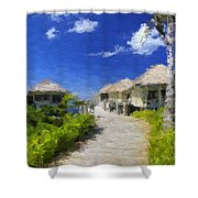 Painted Island Pathway Shower Curtain