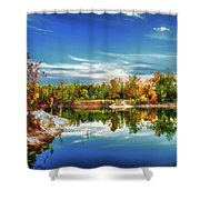 Painted Klondike Autumn Shower Curtain