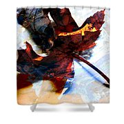 Painted Leaf Series 2 Shower Curtain