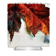 Painted Leaf Series 3 Shower Curtain