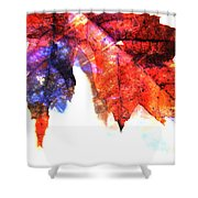 Painted Leaf Series 4 Shower Curtain