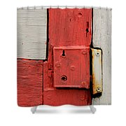 Painted Lock Shower Curtain
