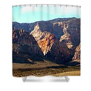 Painted Mountains Shower Curtain