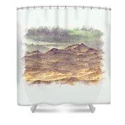 Mountainous Landscape Shower Curtain
