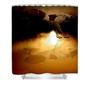 Painted Mustang Shower Curtain