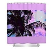 Painted Palms 4 Shower Curtain