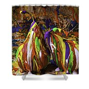 Painted Pears Shower Curtain