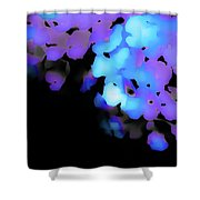 Painted Petals In Blue Purple Shower Curtain