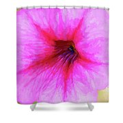 Painted Petunia 344 Shower Curtain