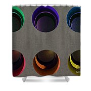 Painted Pigeon Holes Shower Curtain