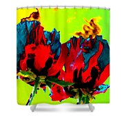 Painted Poppies Shower Curtain