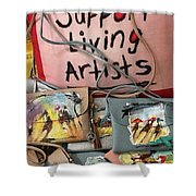 Painted Purses  Shower Curtain