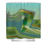 Painted Riverland Shower Curtain