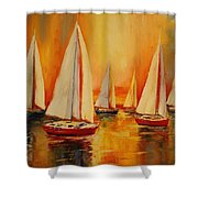 Painted Sails Shower Curtain