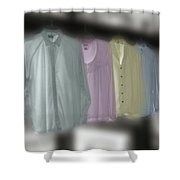 Painted Shirts Shower Curtain