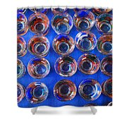Painted Shot Glasses Shower Curtain