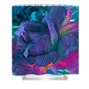 Painted Silk Shower Curtain