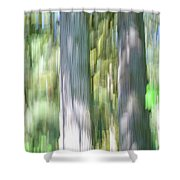 Painted Streaked Trees Shower Curtain