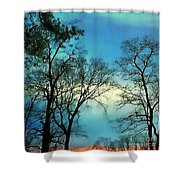 Painted Sunset Shower Curtain