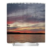 Painted Sunset On Gunflint Lake Shower Curtain
