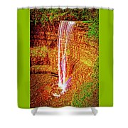 Painted Tews Falls					 Shower Curtain
